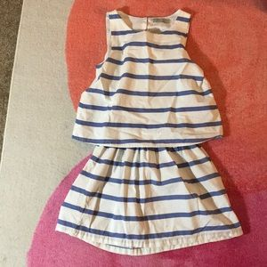 Open back dress, striped